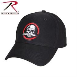 Кепка бейсболка Deluxe Skull/Knife Black - фото 11103