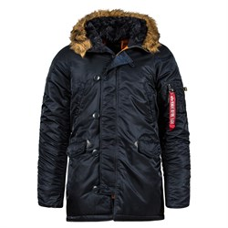 Куртка аляска N-3B Parka Slim Fit Black Alpha - фото 14370