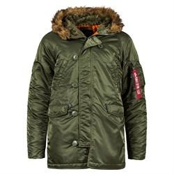 Куртка аляска N-3B Parka Slim Fit Sage Alpha - фото 14375