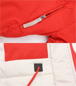 Куртка аляска женская Oxford Simple Red/White Grey - фото 16312