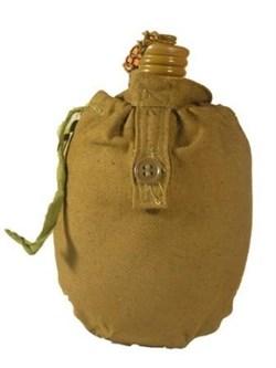 Фляга армейская с чехлом - фото 5075