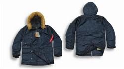 Куртка аляска N-3B Parka Replica Blue Alpha - фото 5381