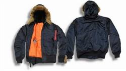 Куртка Hooded MA-1 Replica Blue Alpha - фото 5903