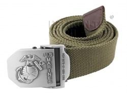 Ремень брючный US Marines Olive - фото 6029