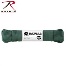 Шнур Paracord 550lb 100 ft Hunter Green - фото 9893