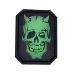 Шеврон на липучке PVC MM Devil Skull GreenGlow