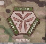 Шеврон на липучке Trigger Pull Logo multicam