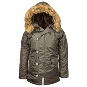 Куртка женская N-3B W Parka Replica Grey
