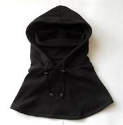 Балаклава-маска флисовая длинная black