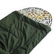 Спальный мешок Аляска Стандарт с подголовником до -5 зеленый