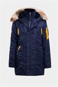Куртка аляска женская N3B Husky Women's Replica Blue/Yellow