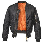 Куртка летная бомбер MA-1 Brandit Black