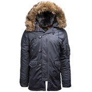 Куртка аляска N-3B Parka Slim Fit Steel Blue Alpha