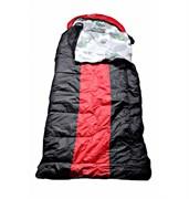 Спальный мешок Аляска Эксперт с подголовником до -10 черно-красный