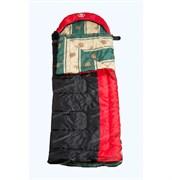 Спальный мешок Аляска Эксперт с подголовником до -5 черно-красный