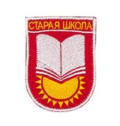 Шеврон на липучке Старая школа красный