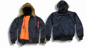 Куртка Hooded MA-1 Replica Blue Alpha