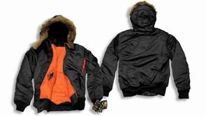 Куртка Hooded MA-1 Black Alpha
