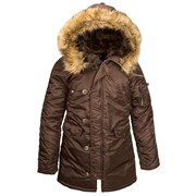 Куртка аляска женская N-3B W Parka Cocoa
