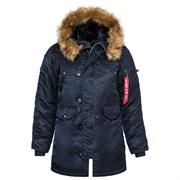 Куртка аляска женская N-3B W Parka Replica Blue