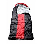 Спальный мешок Аляска Эксперт с подголовником до -15 черно-красный