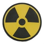 Шеврон на липучке Радиация PVC