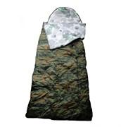 Спальный мешок Аляска Стандарт с подголовником до -5 woodland