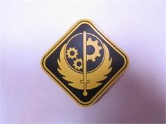 Шеврон на липучке FA2 Братство Стали PVC желтый