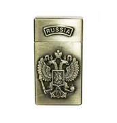 Зажигалка газовая турбо Герб России металл 30х60 мм