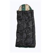 Спальный мешок Аляска Стандарт с подголовником до -5 черный