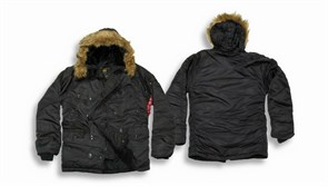 Куртка аляска N-3B Parka Black Alpha