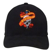 Кепка бейсболка Deluxe Skull/Ribbon