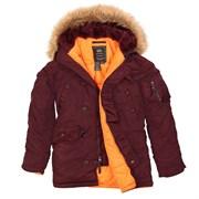 Куртка аляска N-3B Parka Slim Fit Maroon Alpha